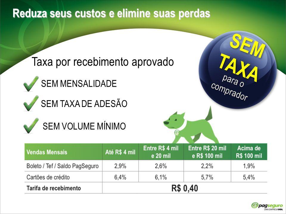 Taxa por recebimento aprovado
