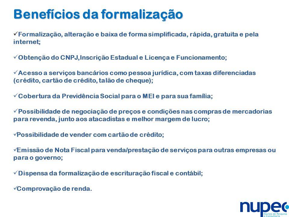 Benefícios da formalização