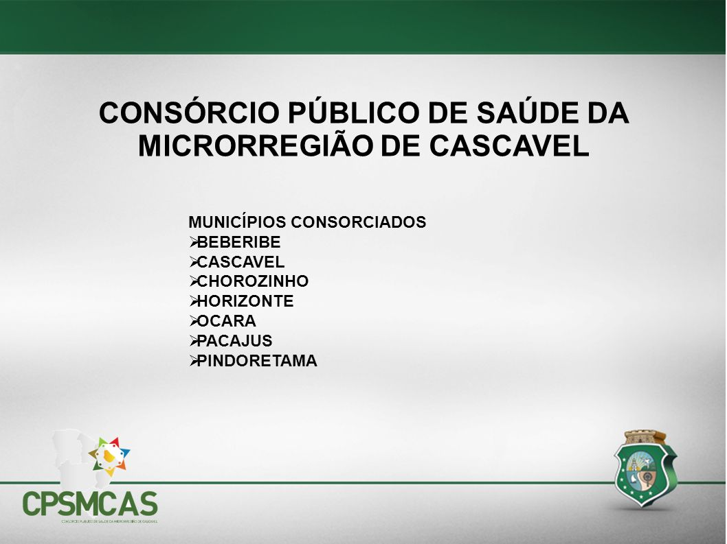 CONSÓRCIO PÚBLICO DE SAÚDE DA MICRORREGIÃO DE CASCAVEL