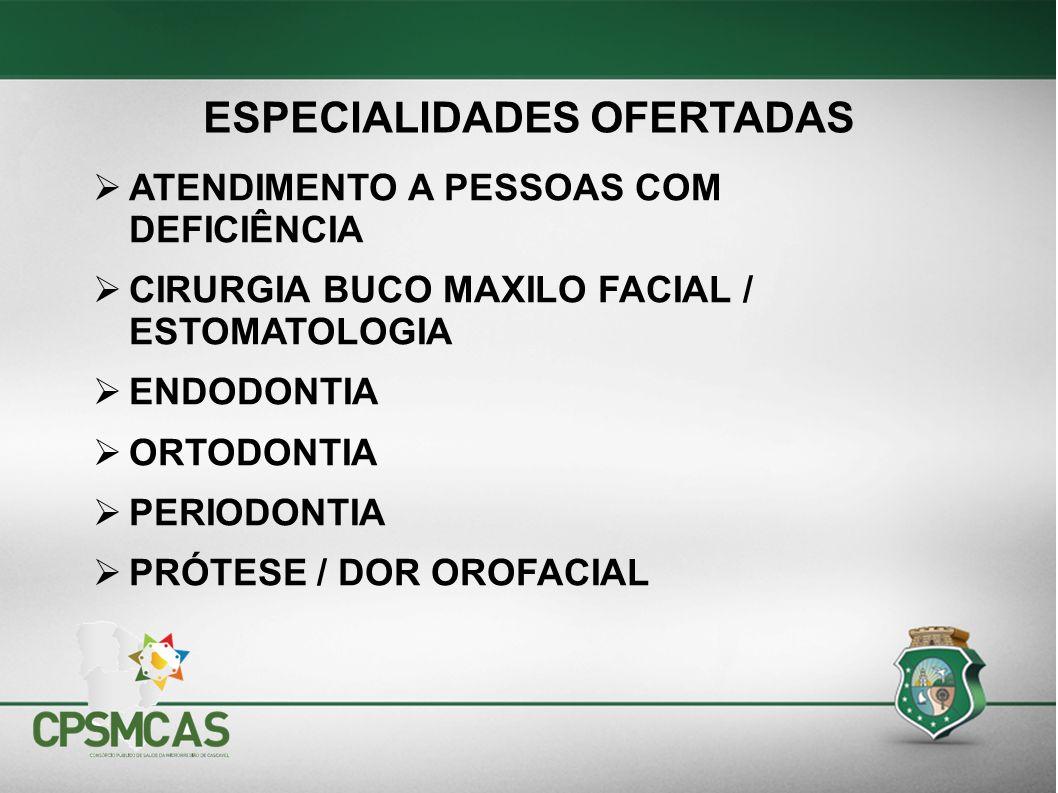 ESPECIALIDADES OFERTADAS
