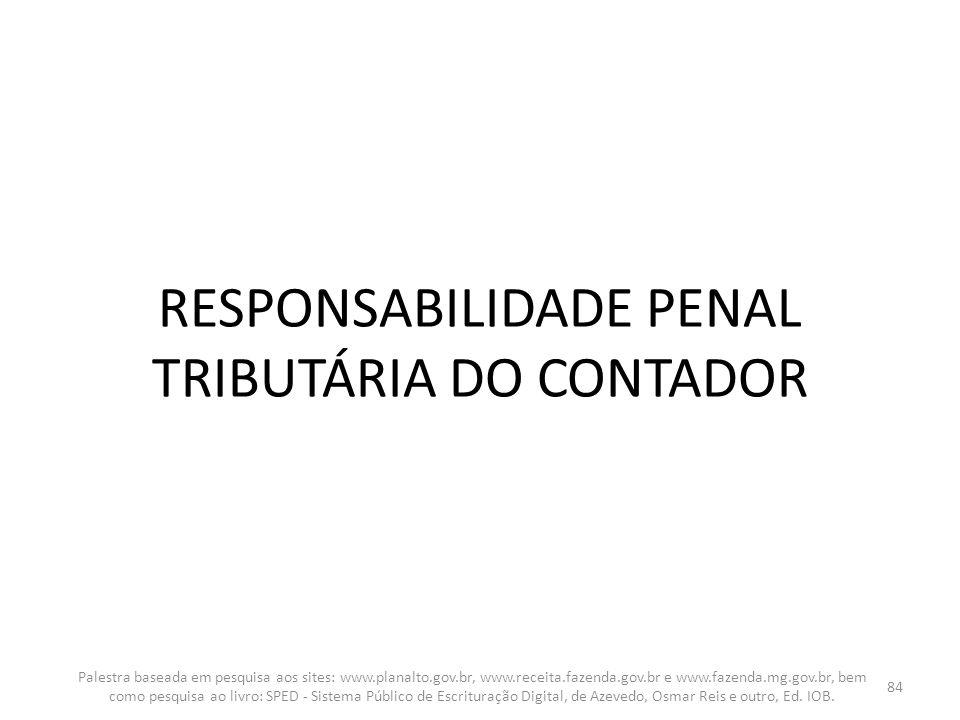 RESPONSABILIDADE PENAL TRIBUTÁRIA DO CONTADOR