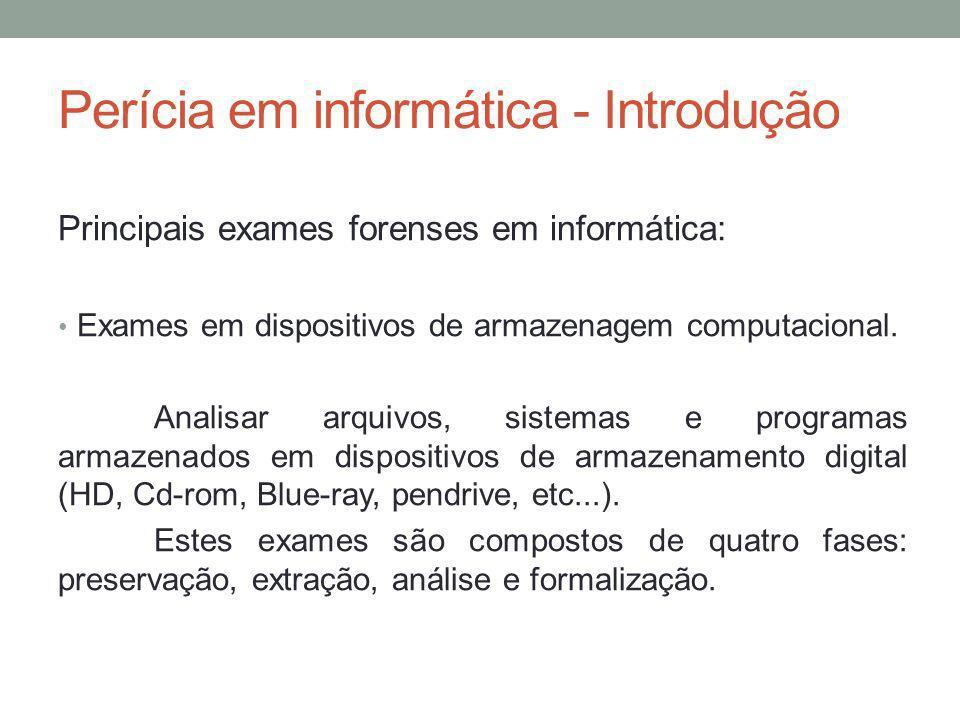 Perícia em informática - Introdução