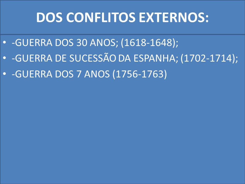 DOS CONFLITOS EXTERNOS: