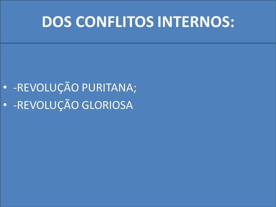 DOS CONFLITOS INTERNOS:
