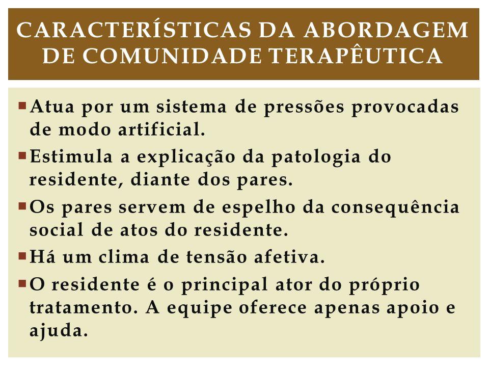 Características da Abordagem de comunidade terapêutica