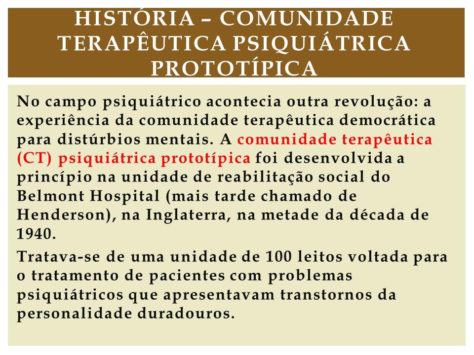 História – Comunidade Terapêutica psiquiátrica prototípica