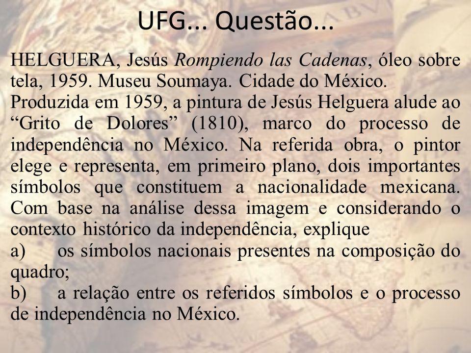 UFG... Questão... HELGUERA, Jesús Rompiendo las Cadenas, óleo sobre tela, 1959. Museu Soumaya. Cidade do México.