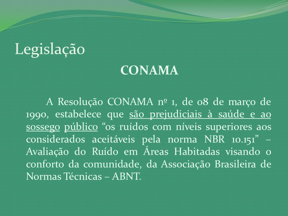 Legislação CONAMA.