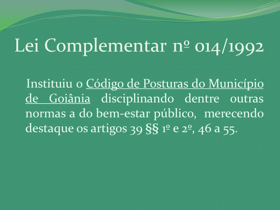 Lei Complementar nº 014/1992
