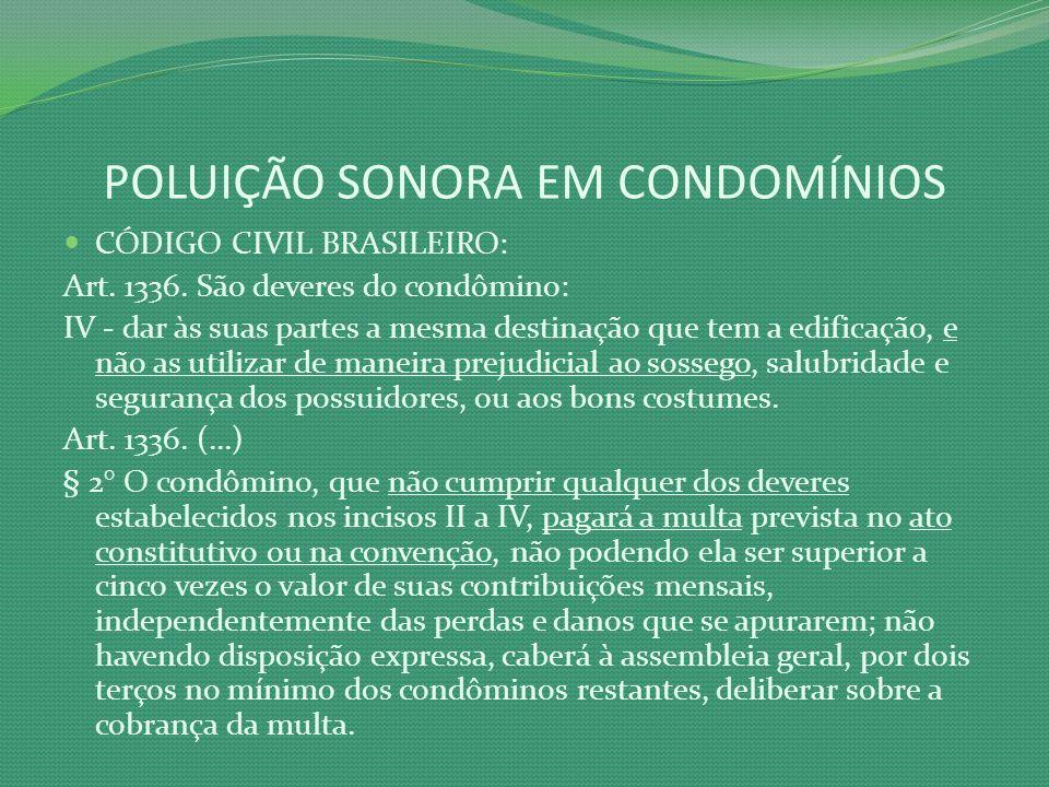 POLUIÇÃO SONORA EM CONDOMÍNIOS