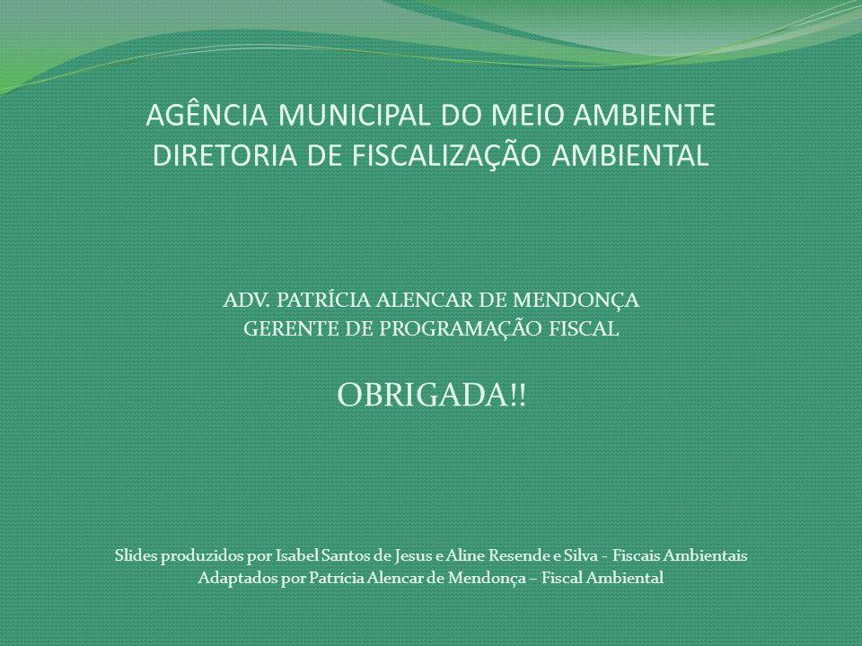 AGÊNCIA MUNICIPAL DO MEIO AMBIENTE DIRETORIA DE FISCALIZAÇÃO AMBIENTAL