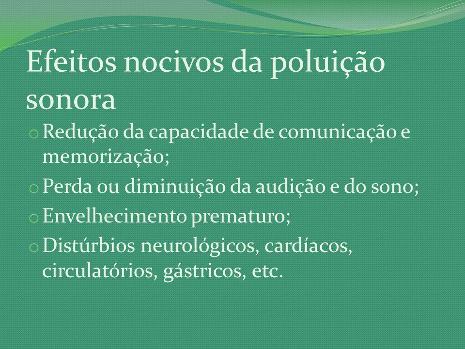Efeitos nocivos da poluição sonora