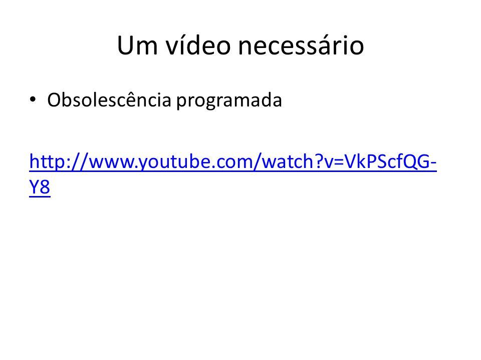 Um vídeo necessário Obsolescência programada