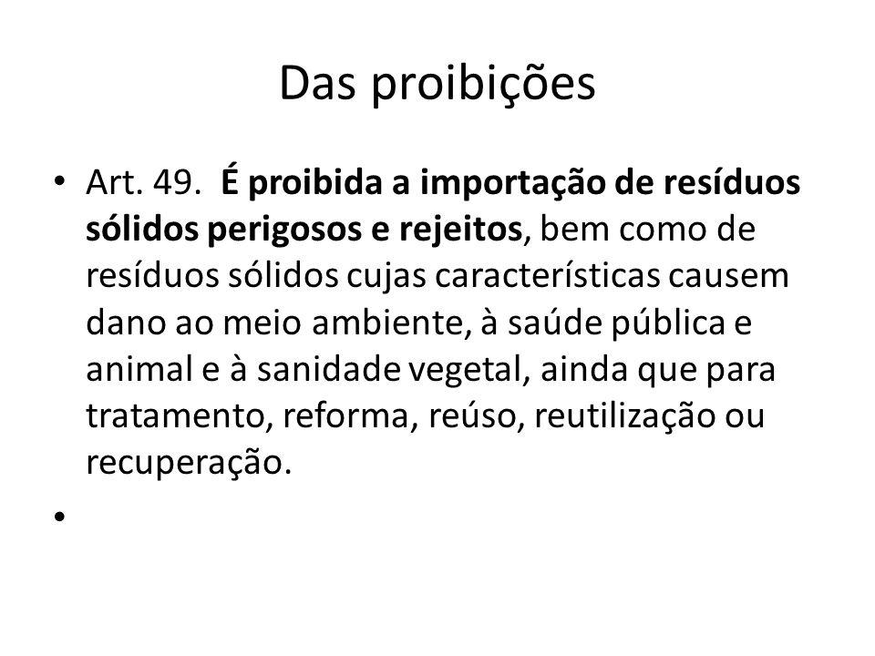 Das proibições