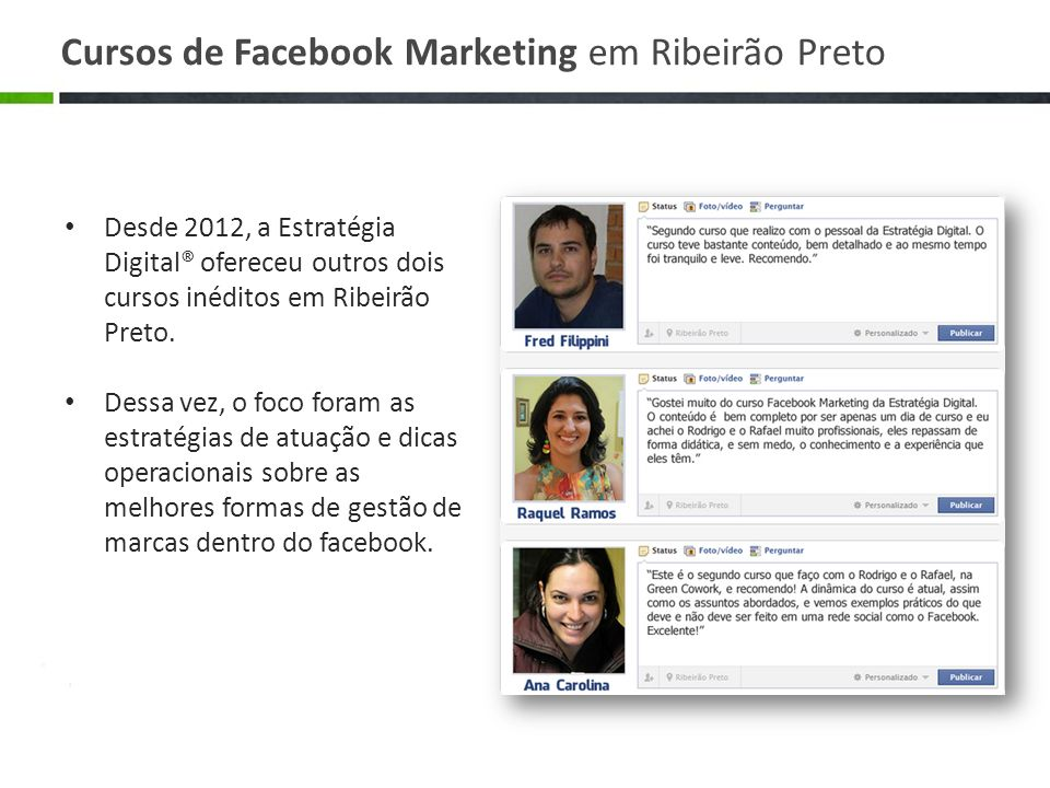 Cursos de Facebook Marketing em Ribeirão Preto
