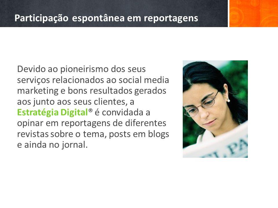 Participação espontânea em reportagens