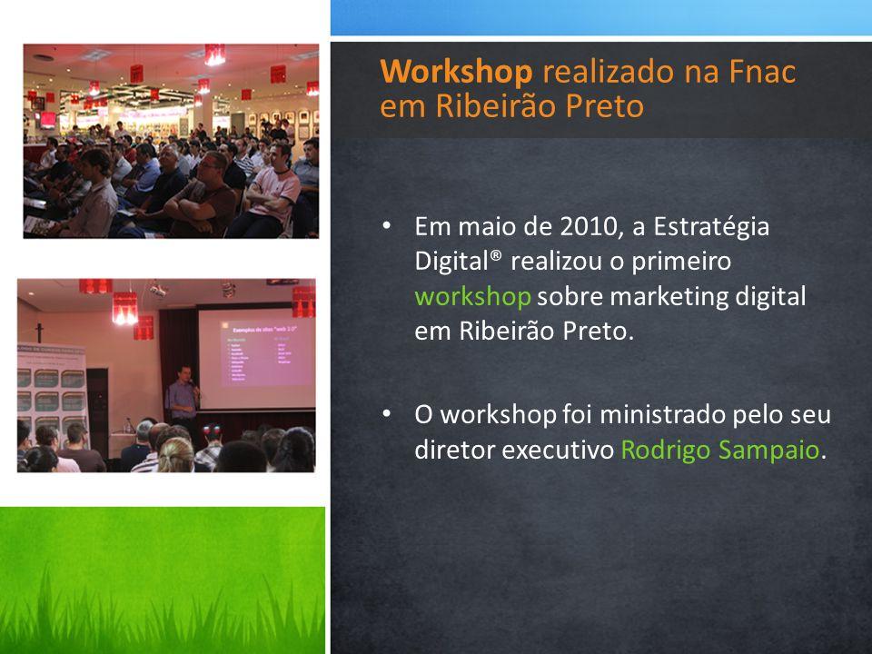Workshop realizado na Fnac em Ribeirão Preto