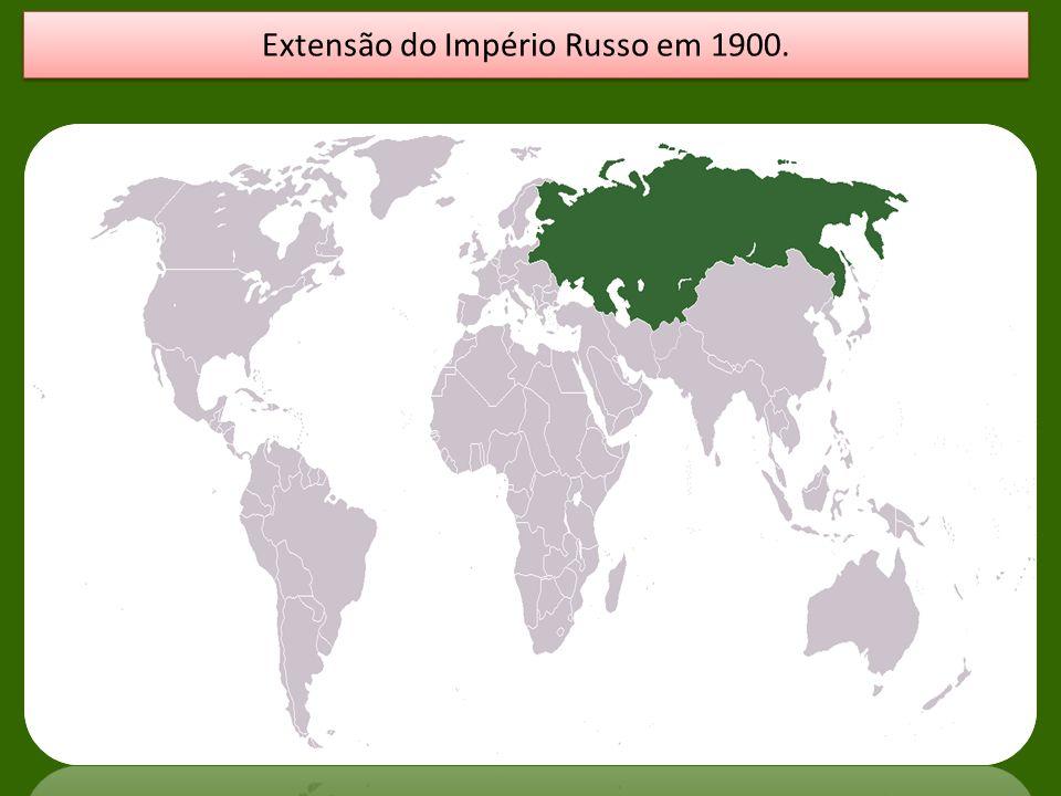 Extensão do Império Russo em 1900.
