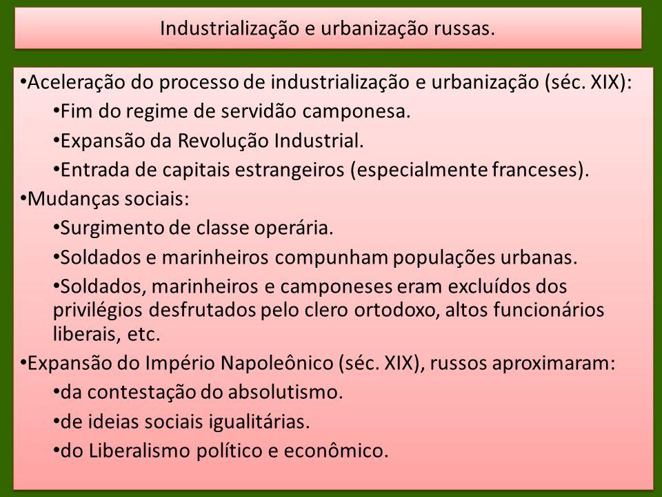 Industrialização e urbanização russas.