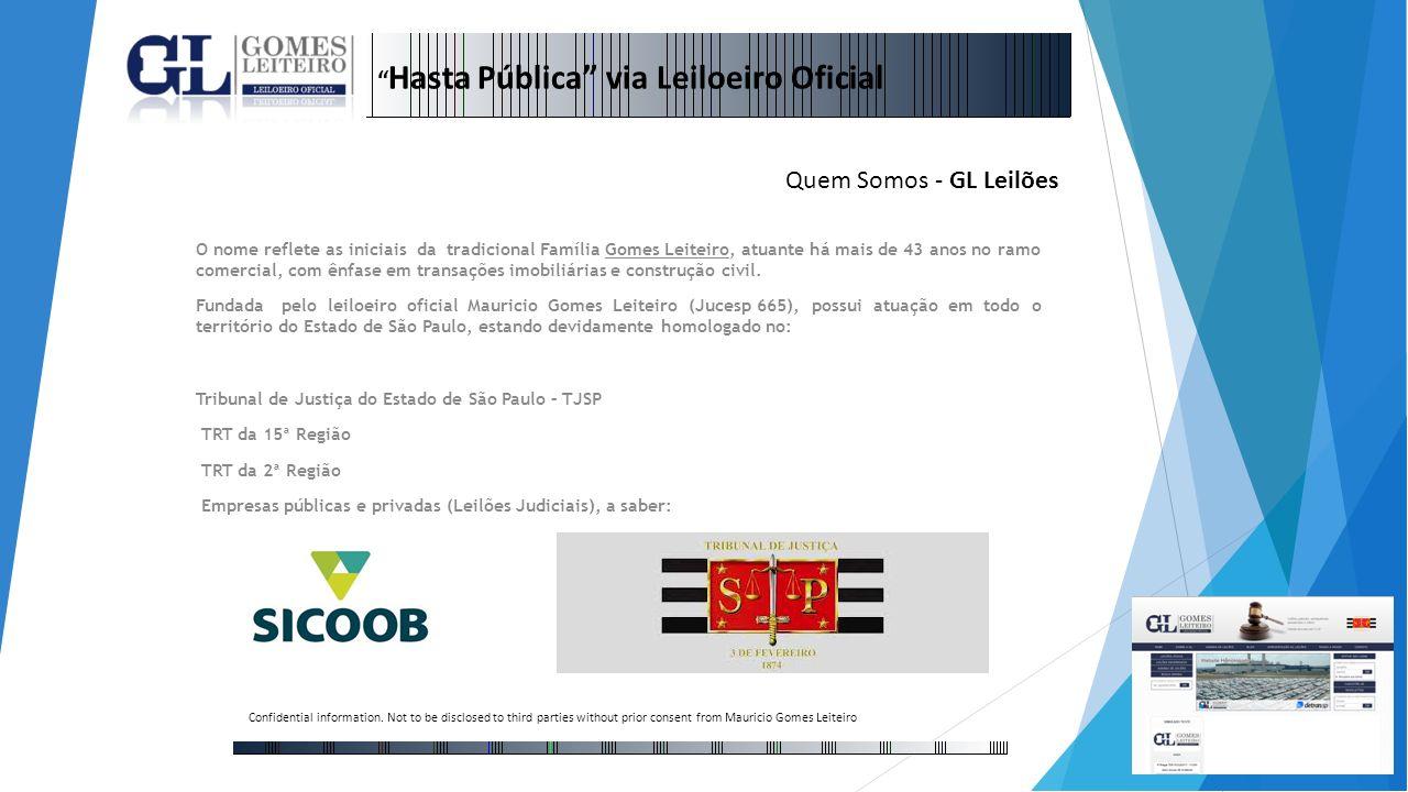 Hasta Pública via Leiloeiro Oficial Quem Somos - GL Leilões