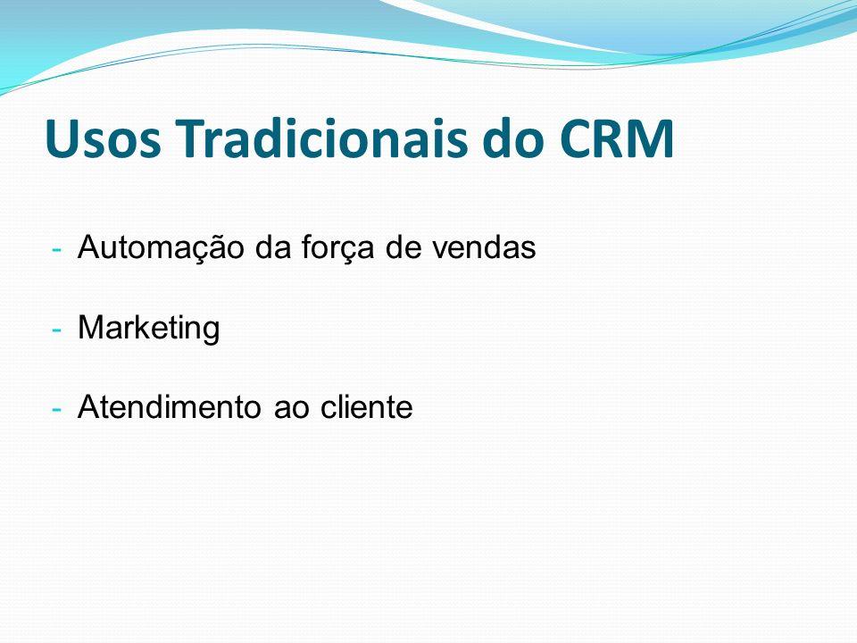 Usos Tradicionais do CRM