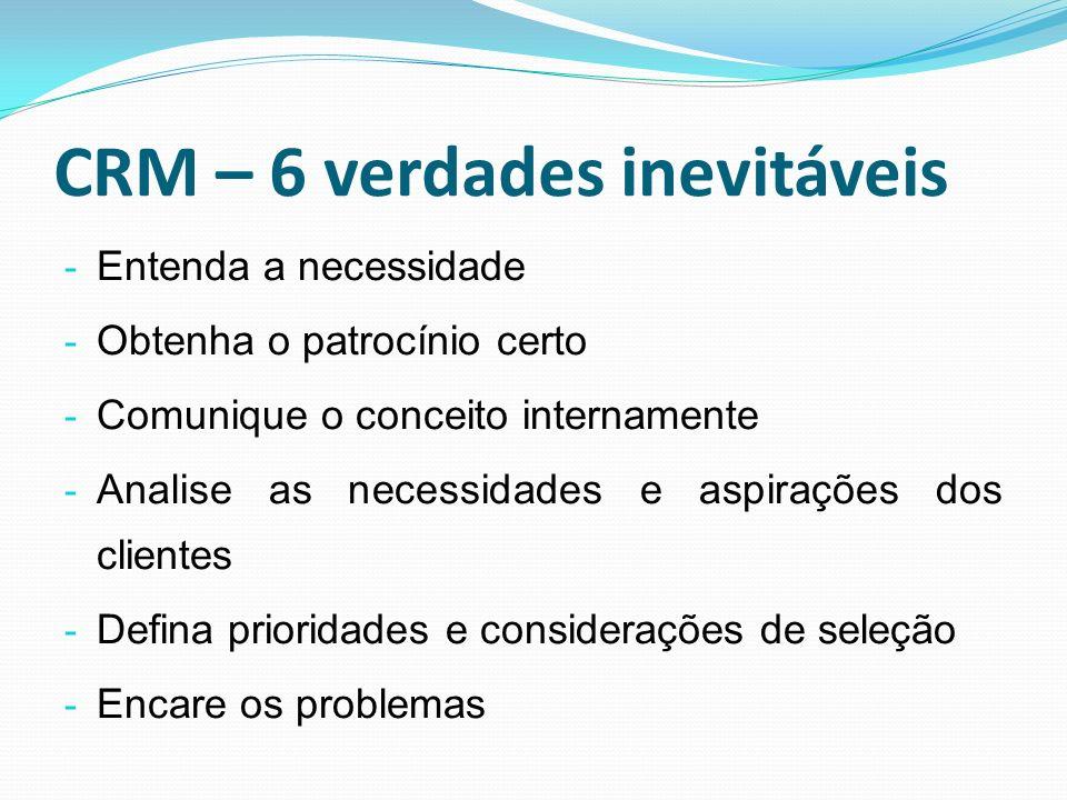 CRM – 6 verdades inevitáveis