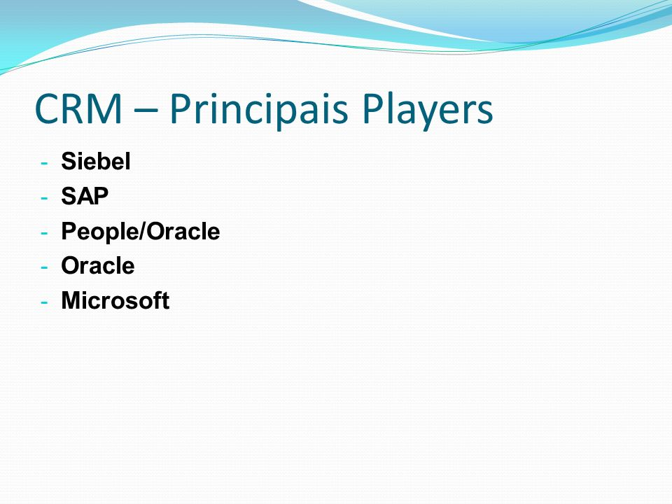 CRM – Principais Players