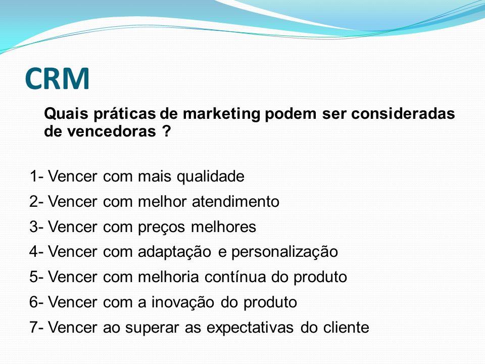 CRM Quais práticas de marketing podem ser consideradas de vencedoras
