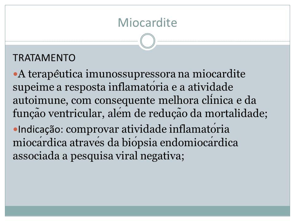 Miocardite TRATAMENTO