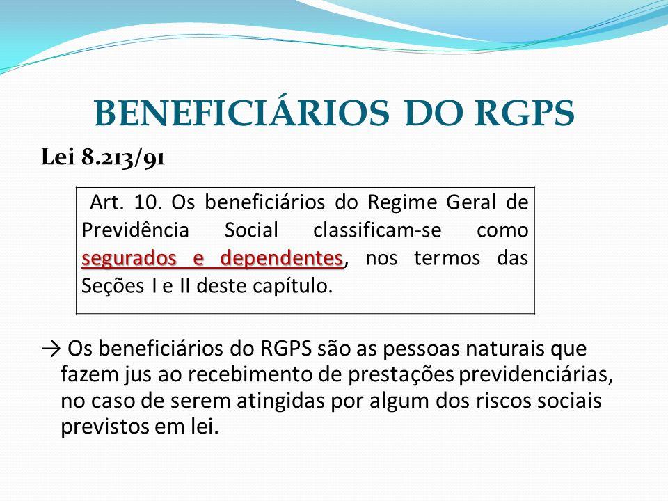 BENEFICIÁRIOS DO RGPS