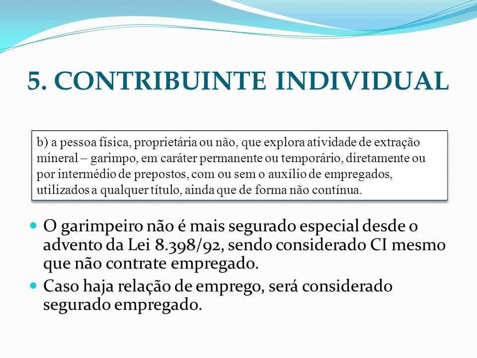 5. CONTRIBUINTE INDIVIDUAL