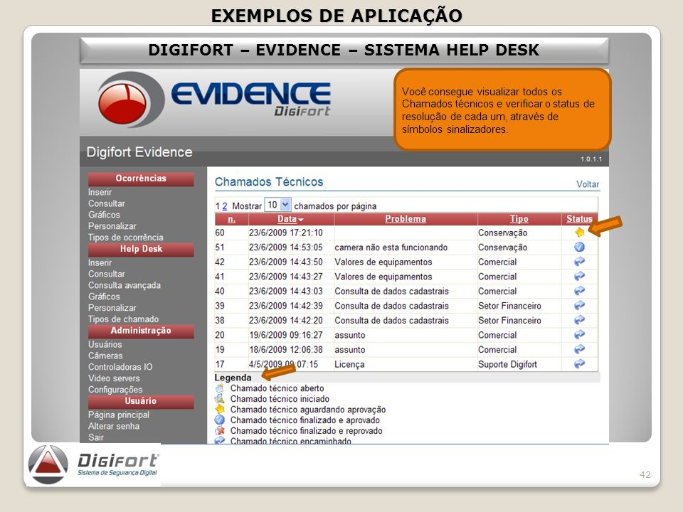 DIGIFORT – EVIDENCE – SISTEMA HELP DESK