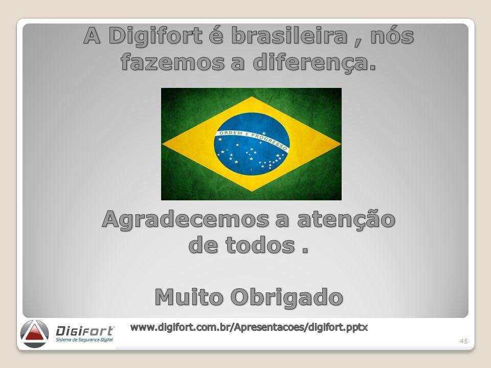 A Digifort é brasileira , nós fazemos a diferença.