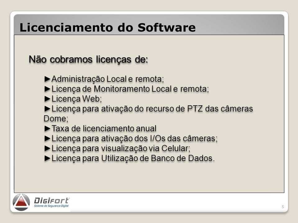 Licenciamento do Software