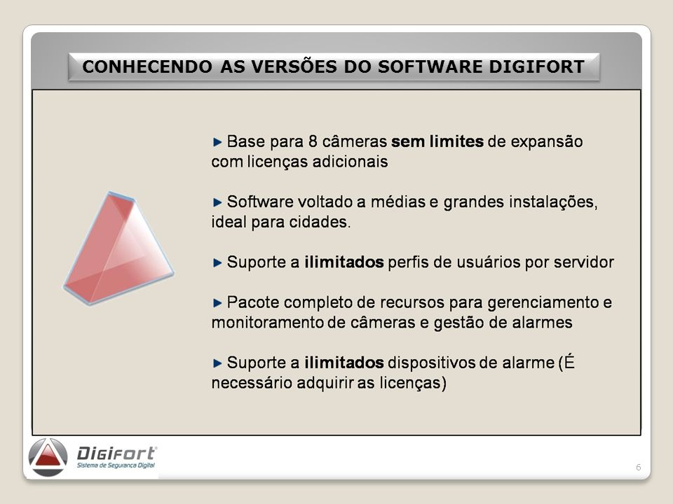 CONHECENDO AS VERSÕES DO SOFTWARE DIGIFORT