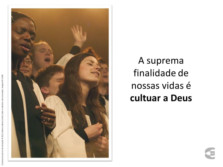 A suprema finalidade de nossas vidas é cultuar a Deus