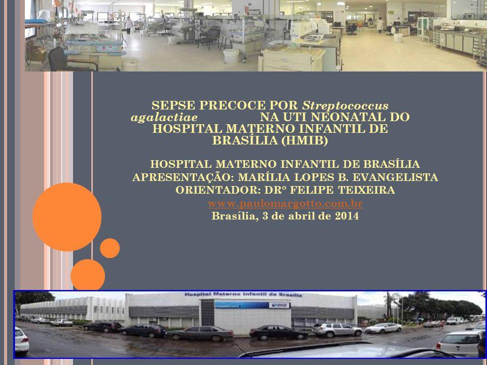 HOSPITAL MATERNO INFANTIL DE BRASÍLIA APRESENTAÇÃO: MARÍLIA LOPES B