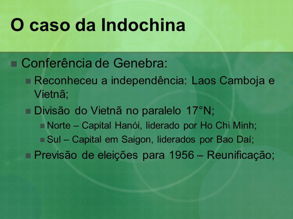 O caso da Indochina Conferência de Genebra: