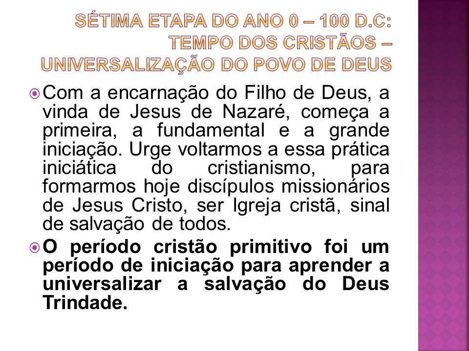 Sétima etapa do ano 0 – 100 d.c: tempo dos cristãos – universalização do povo de deus