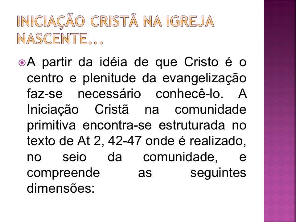 INICIAÇÃO CRISTÃ NA IGREJA NASCENTE...
