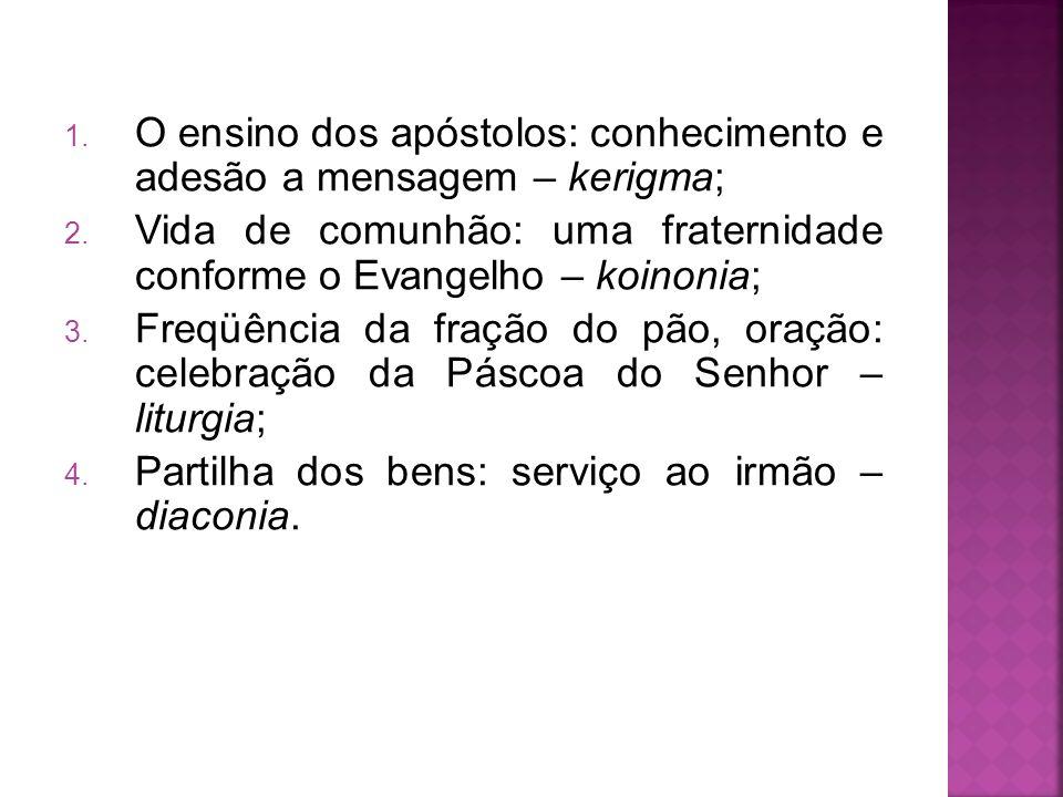 O ensino dos apóstolos: conhecimento e adesão a mensagem – kerigma;