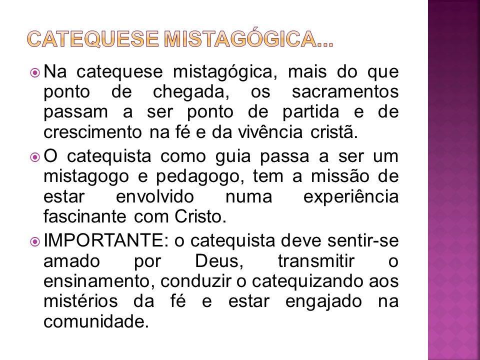 CATEQUESE MISTAGÓGICA...