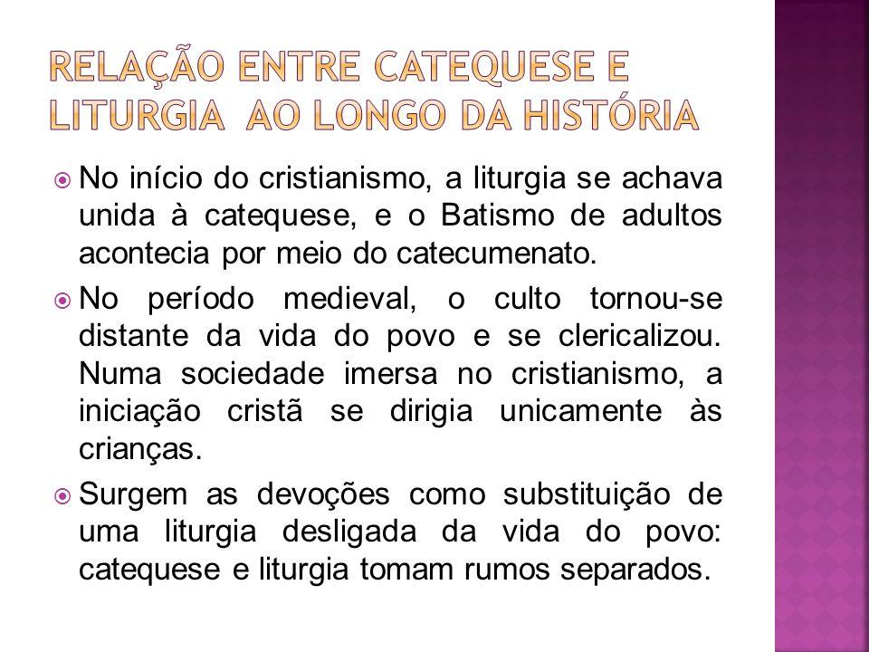 Relação entre catequese e liturgia ao longo da história