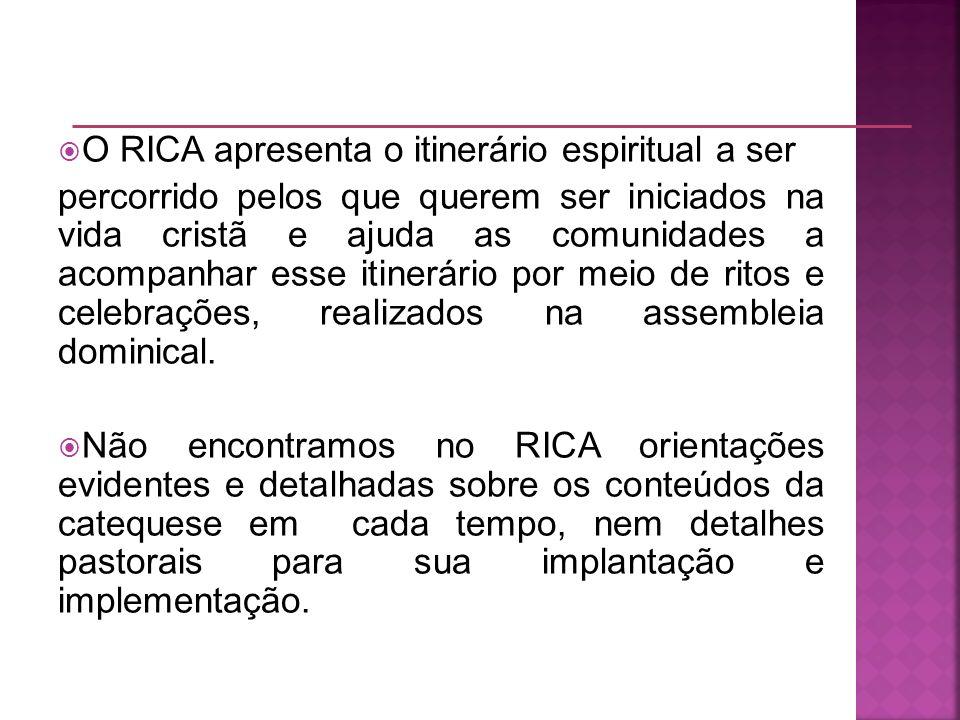 O RICA apresenta o itinerário espiritual a ser