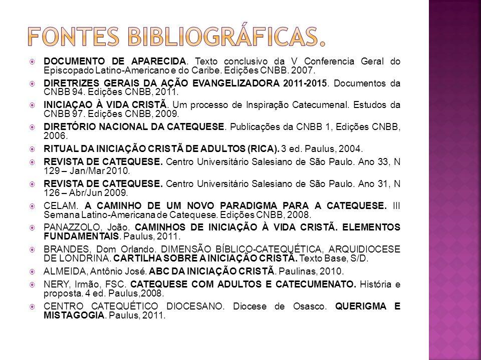 FONTEs BIBLIOGRÁFICAS.