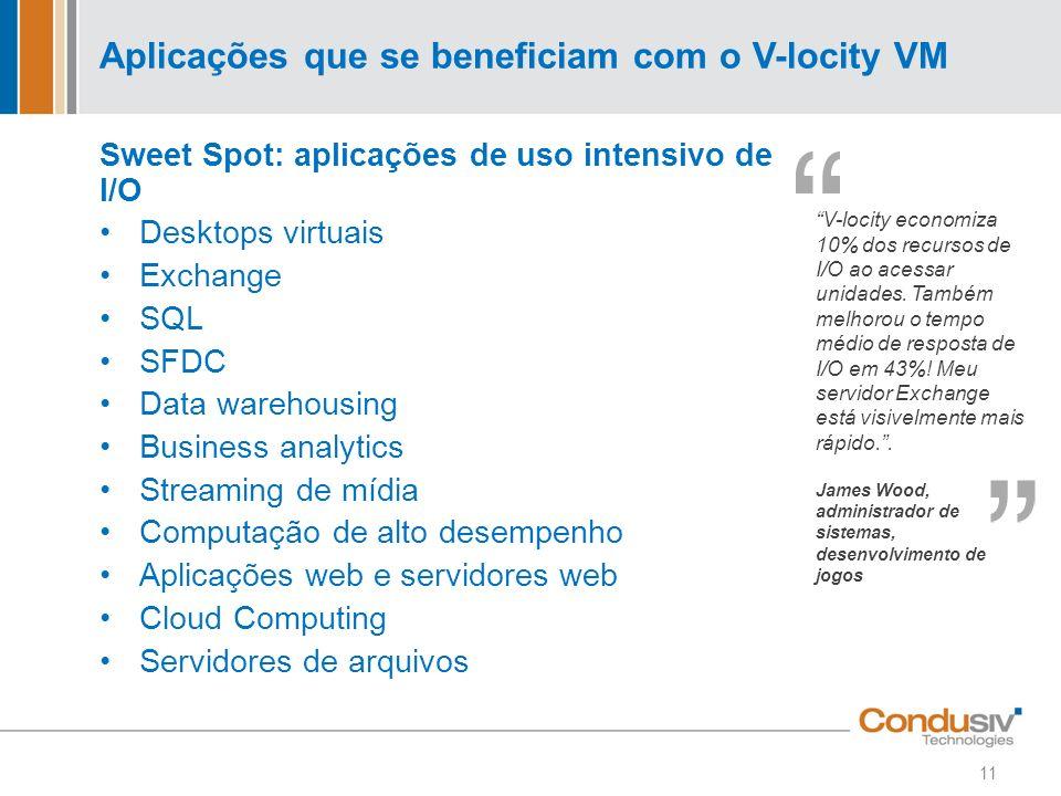 Aplicações que se beneficiam com o V-locity VM