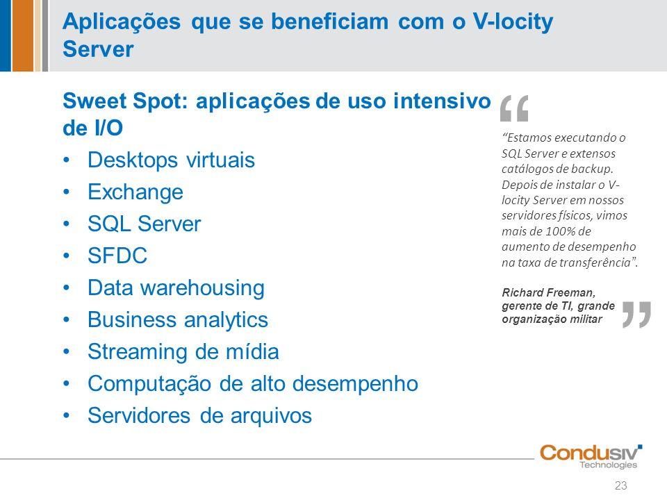 Aplicações que se beneficiam com o V-locity Server