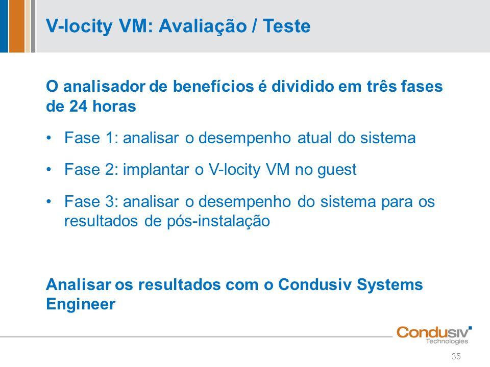 V-locity VM: Avaliação / Teste