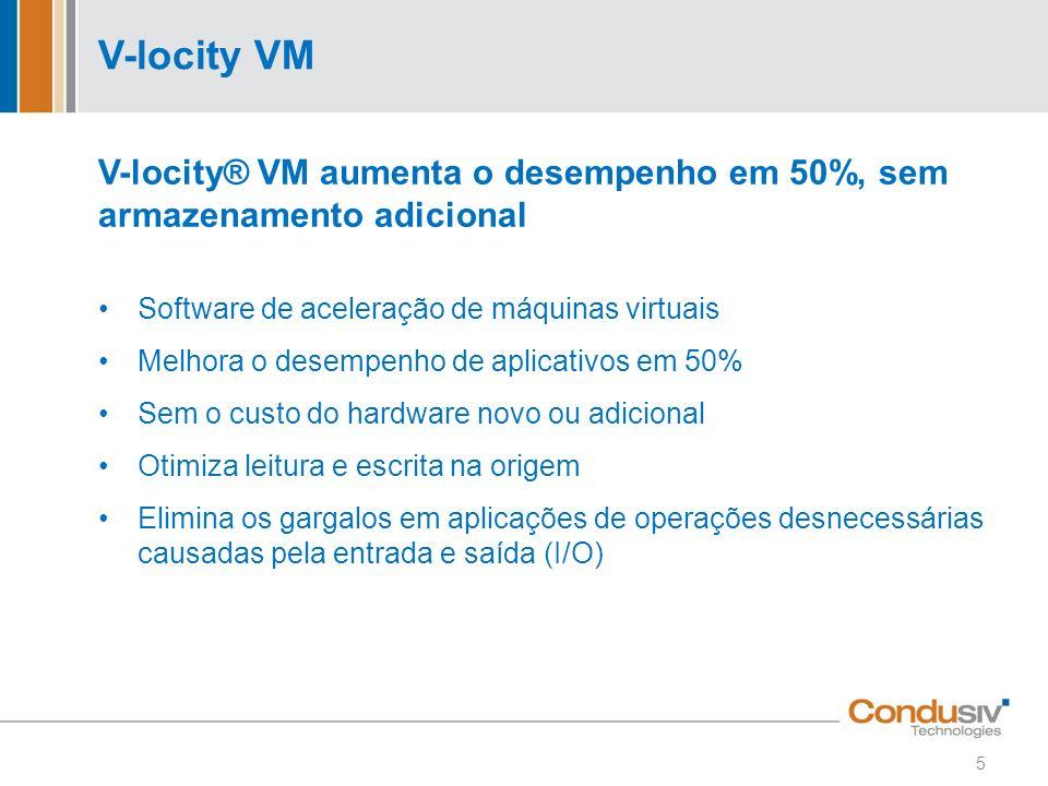 V-locity VM V-locity® VM aumenta o desempenho em 50%, sem armazenamento adicional. Software de aceleração de máquinas virtuais.