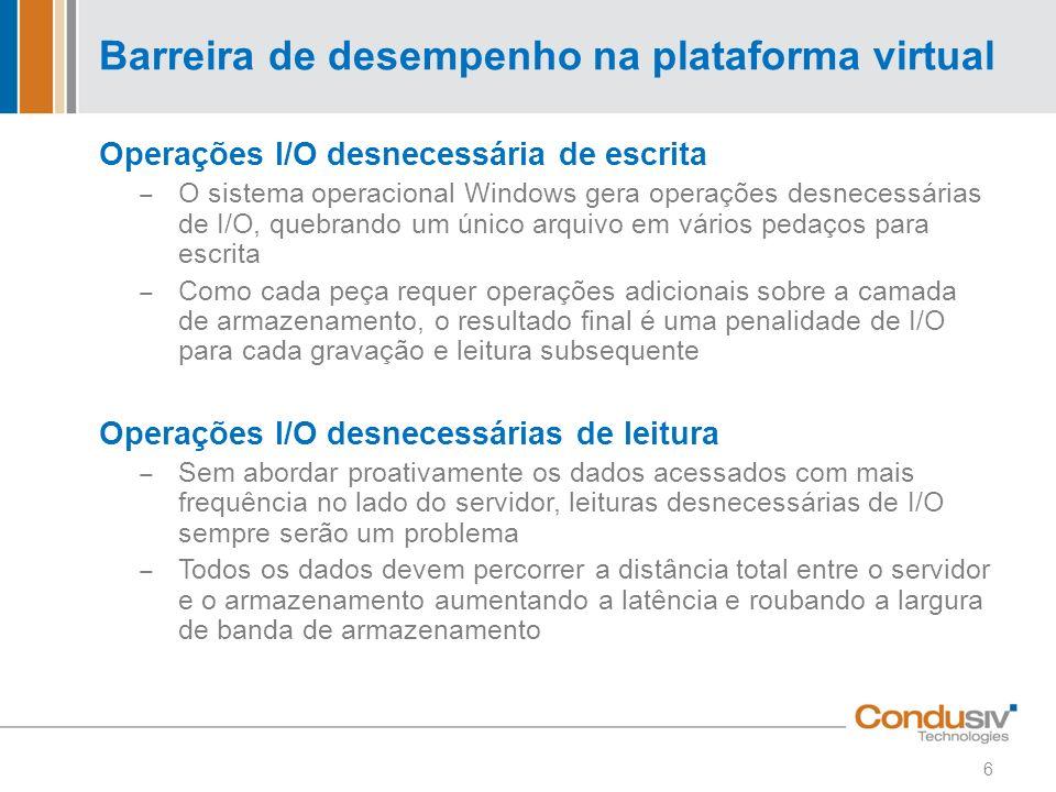 Barreira de desempenho na plataforma virtual